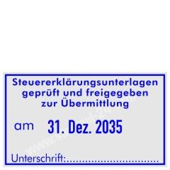 Stempel Steuererklärungsunterlagen geprüft • Trodat Professional 5460 •