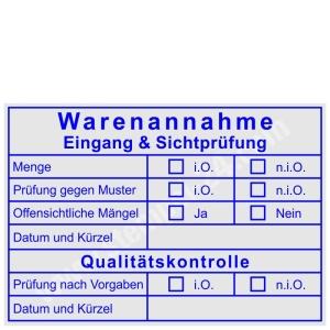 Stempel Warenannahme Prüfung nach Sichtkontrolle • Trodat Professional 5208 •
