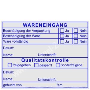 Stempel Wareneingangsstempel Qualitätskontrolle • Trodat Professional 5211 •