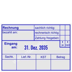 Buchungsstempel Rechnung • Trodat Professional 5480 •