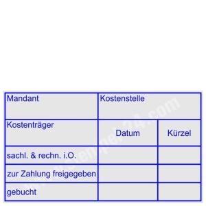 Stempel Mandant Kostenstelle Kostenträger • Trodat Professional 5274 •