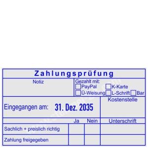 Buchungsstempel Zahlungsprüfung • Trodat Professional 54110 •