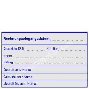 Stempel Rechnungseingangsdatum Konto Betrag • Trodat Professional 5211 •