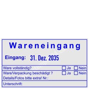 Stempel Wareneingangskontrolle Transportschaden Details Foto • Trodat Professional 5480 •