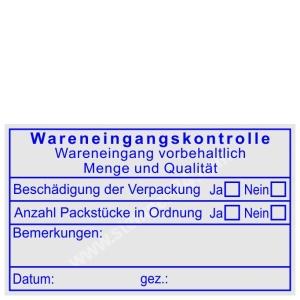 Stempel Wareneingangskontrolle Bemerkung  • Trodat Professional 5206 •