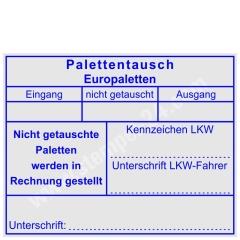 Stempel Europalettentausch Fehlende Paletten in Rechnung gestellt • Trodat Professional 5211 •