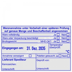 Stempel Warenannahme Gewicht Temperatur • Trodat Professional 54110 •