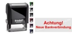 Stempel Achtung Neue Bankverbindung • Trodat Printy 4912 •