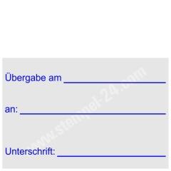 Stempel Übergabe an Unterschrift • Trodat Professional 5274 •