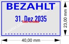 Stempel Bezahlt • Trodat Professional 5430 •