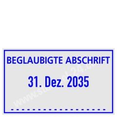 Stempel Beglaubigte Abschrift • Trodat Professional 5430 •