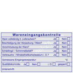 Stempel Wareneingangskontrolle Mindesthaltbarkeit Temperatur • Trodat Professional 5212 •