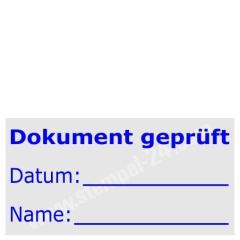 Stempel Dokument geprüft • Trodat Professional 5200 •