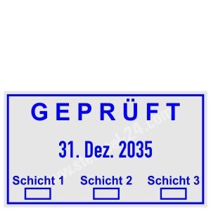 Stempel Geprüft 3 Schichten • Trodat Professional 5440 •
