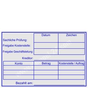 Stempel Rechnungsprüfung Kostenstelle Auftrag • Trodat Professional 5211 •