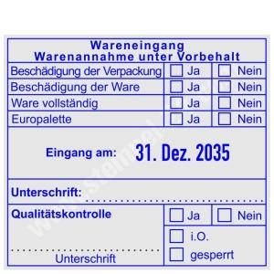 Stempel Wareneingang Qualitaetskontrolle • Trodat Professional 54110 •