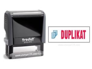 Trodat Office Printy 4912 DUPLIKAT mit roten Schriftzug und blauen Symbol