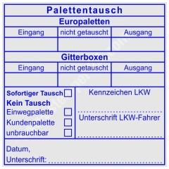 Stempel Palettentausch Europalette Gitterbox • Trodat Professional 5212 •