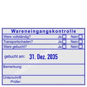 Stempel Wareneingangskontrolle Transportschaden • Trodat Professional 5480 •