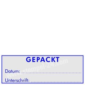 Stempel Gepackt • Trodat Printy 4915 •