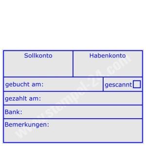 Rechnungstempel Sollkonto-Habenkonto-gebucht am-gezahlt am-Bank-Gescannt-Bemerkungen • Trodat Professional 5274 •