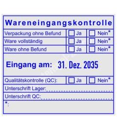 Stempel Wareneingangskontrolle Qualitätskontrolle • Trodat Professional 54110 •