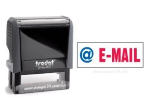 Trodat Office Printy 4912 E-MAIL mit roten Schriftzug und blauen Symbol