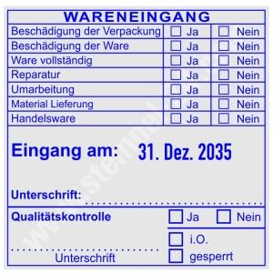 Stempel Wareneingangsstempel Handelsware • Trodat Professional 54120R •