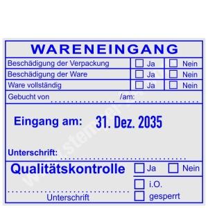 Wareneingangsstempel Qualitätskontrolle • Trodat Professional 54110 •