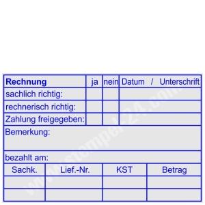 Rechnungsstempel sachlich rechnerisch richtig freigegeben • Trodat Professional 5211 •