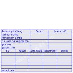 Stempel Rechnungsprüfung Soll Haben Kostenstelle Kostenträger • Trodat Professional 5212 •