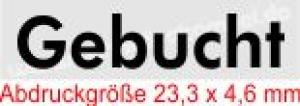 Stempel Gebucht • Trodat Printy 4910 •