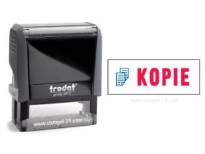 Trodat Office Printy 4912 KOPIE mit roten Schriftzug und blauen Symbol