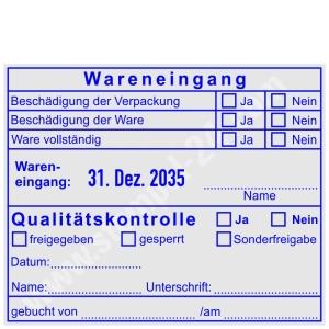 Wareneingangsstempel Qualitaetskontrolle • Trodat Professional 54120 •