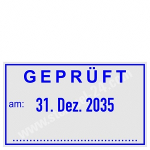 Stempel Geprüft am • Trodat Professional 5430 •