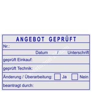Stempel Angebot geprüft • Trodat Professional 5274 •