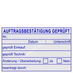 Stempel Auftragsbestätigung geprüft • Trodat Professional 5274 •