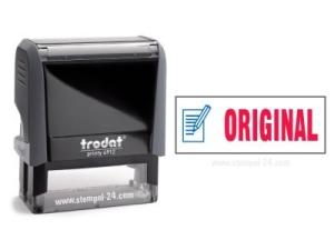Trodat Office Printy 4912 ORIGINAL mit roten Schriftzug und blauen Symbol