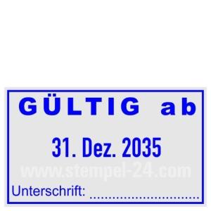 Stempel Gültig ab Unterschrift • Trodat Professional 5430 •