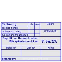 Buchungsstempel Rechnung Geprüft und Unterschrieben zurück • Trodat Professional 54120R •