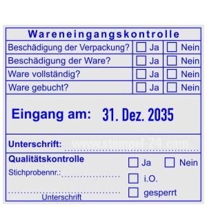 Wareneingangskontrollstempel Stichprobe • Trodat Professional 54110 •