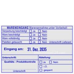 Wareneingangsstempel Lieferant • Trodat Professional 54110 •