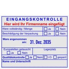 Stempel Eingangskontrolle Firmenname • Trodat Professional 54110 •