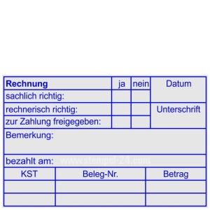 Stempel Rechnungsfreigabe • Trodat Professional 5211 •