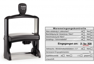 Stempel Wareneingangskontrolle 2 • Trodat Professional 54120R •