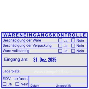 Stempel Wareneingangskontrolle EDV erfasst • Trodat Professional 54110 •