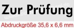Stempel Zur Prüfung • Trodat Printy 4911 •