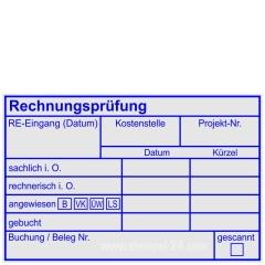 Stempel Rechnungsprüfung angewiesen Bankart 2 • Holzstempel 60 x 90 mm •