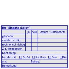 Stempel Rechnungsprüfung Kostenstelle Auftragsnummer • Holzstempel 60 x 90 mm •