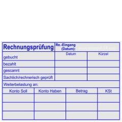 Stempel Rechnungsprüfung Kostenstelle Datum • Holzstempel 60 x 90 mm •
